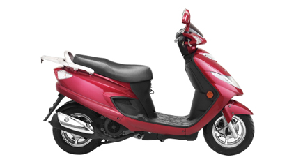 red-scooter