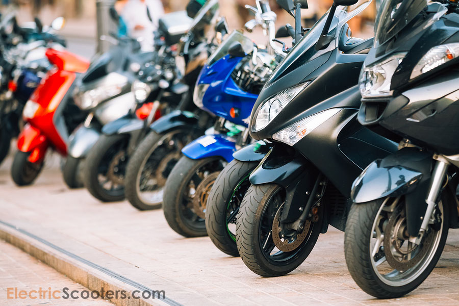scooter, motorcycles