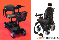 power wheelchair, electric mobility scooter, scooter, electric scooter
