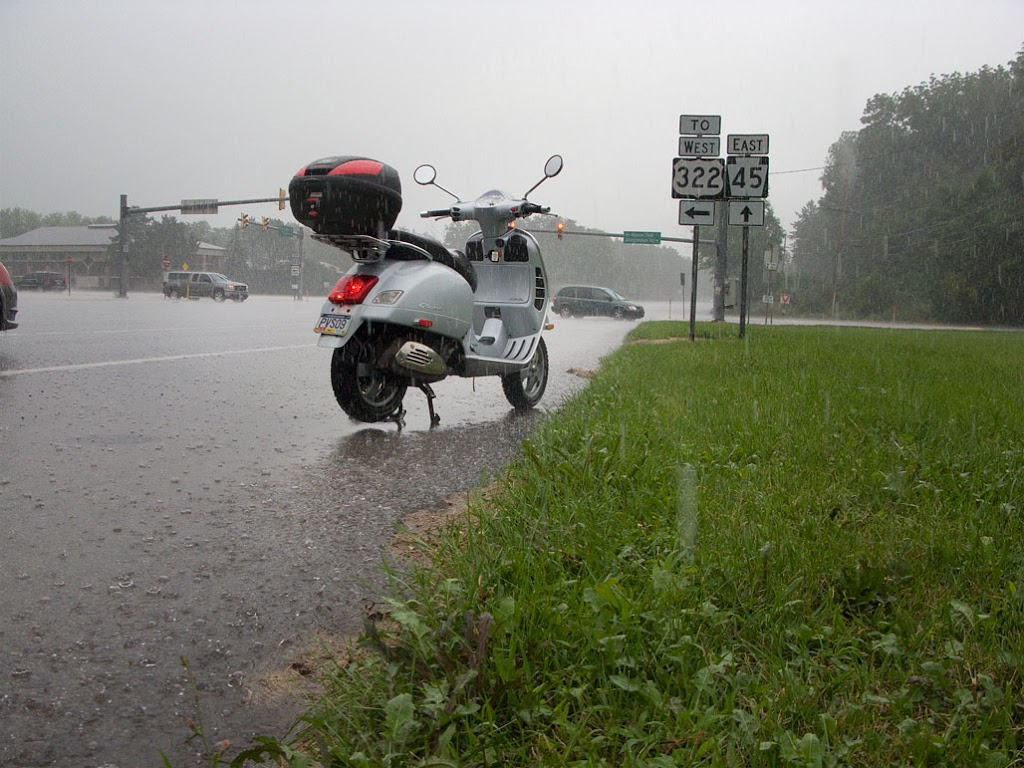 riding tips in wet,