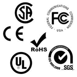 UL, CE, RoHS Certification