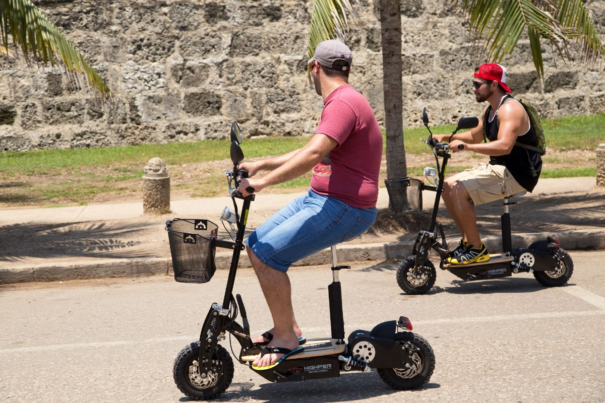 electric scooter with friends